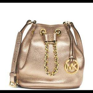 Michael Kors Small Gold Frankie Drawstring Bag